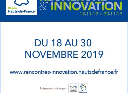 3ème édition des Rencontres de la Recherche et de l'Innovation Hauts-de-France du 18 au 30 novembre 2019